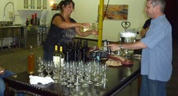 Caldwell Family Winery party - pouring