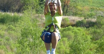 Zip lining in Canton