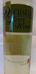 Orange Muscat - Duchman Family Winery