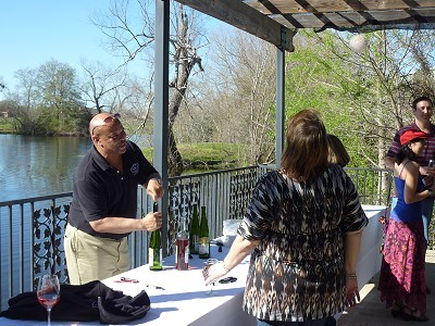 Messina Hof Birthday Bash - serving wine