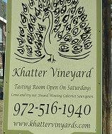 Khatter Vineyards - sign