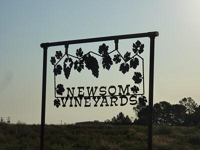 Newsom Vineyards - Sign