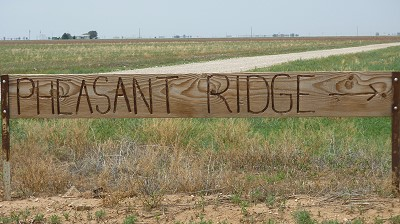 Pheasant Ridge - sign