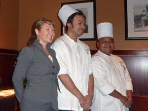 Kristie M. Farmer and chefs