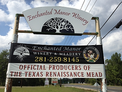 Enchanted Manor - sign