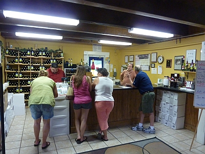 Winery on the Gruene - inside