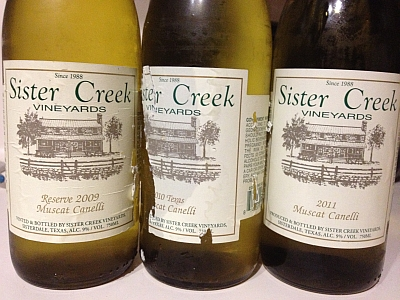 Sister Creek Muscat Cannellis