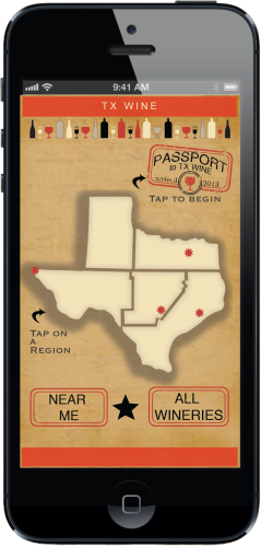 TX Wine Passport - app