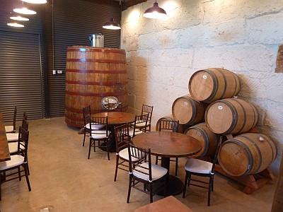 Stone House - barrels