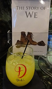 Dirk's cocktail and Pierre's book