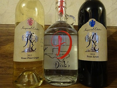 Kiepersol wine and Dirk's Vodka