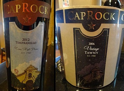 New CapRock Winery labels