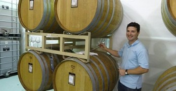 Barrel tasting with Jason Centanni