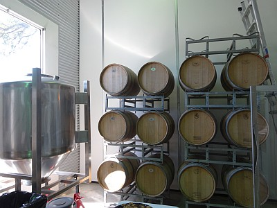 Solaro Estate Winery - Houston - barrels