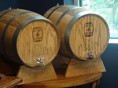 The Austin Winery barrels