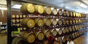 Barrels at Landon Winery in Greenville