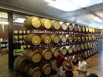 Barrels at Landon Winery in Greenville