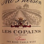 Review of McPherson Cellars Les Copains Rosé 2013