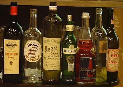 Vermouth bottles