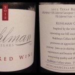 Review of Kuhlman Cellars Texas Red 2012