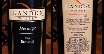 Review of Landon Winery's Reserve Meritage 2006