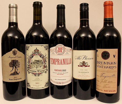 Battle of the Texas Tempranillos - wines