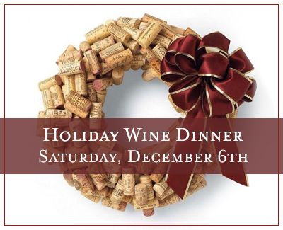 Eden Hill Winery Holiday Wine Dinner