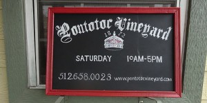 Pontotoc Vineyard sign