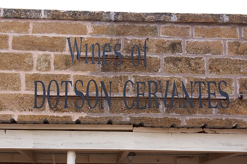 Wines of Doston-Cervantes - sign
