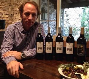 Sergio Cuadra with wines