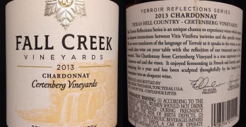 Fall Creek Chardonnay labels