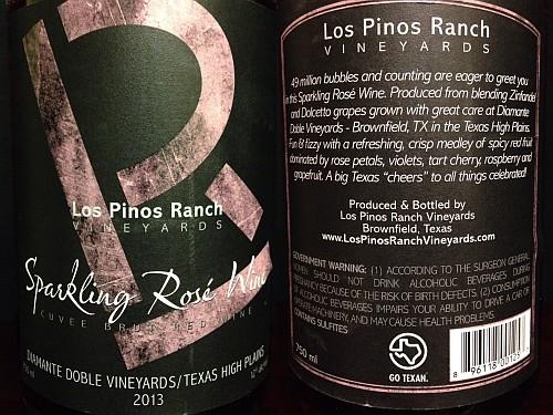 Los Pinos Sparkling Rosé bottle
