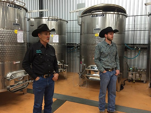 Stephen Baxter and Westin McCoury of Fiesta Winery