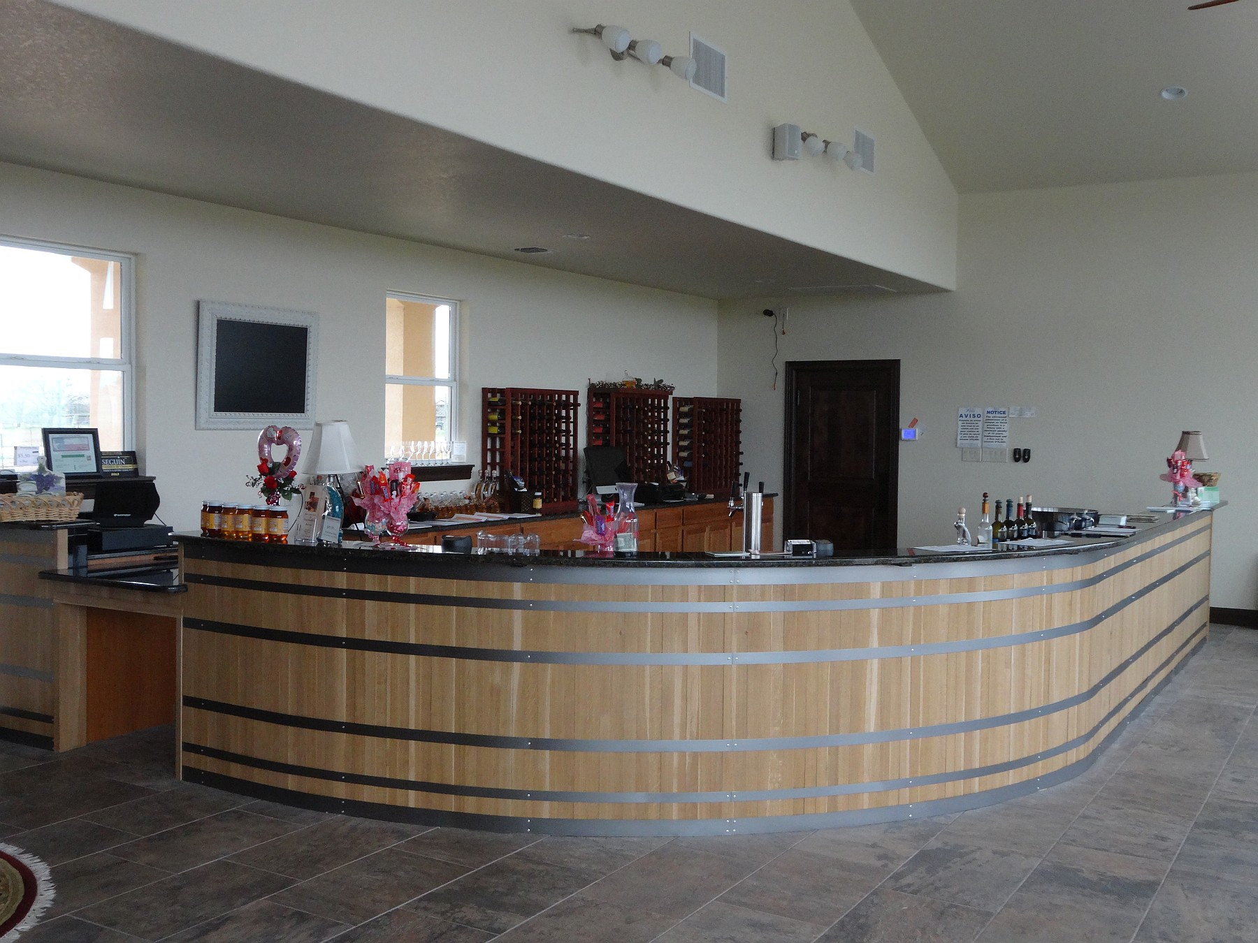 Blue Lotus Winery tasting bar