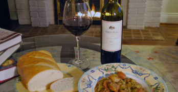 Snow Day Survival with Gumbo and Tempranillo
