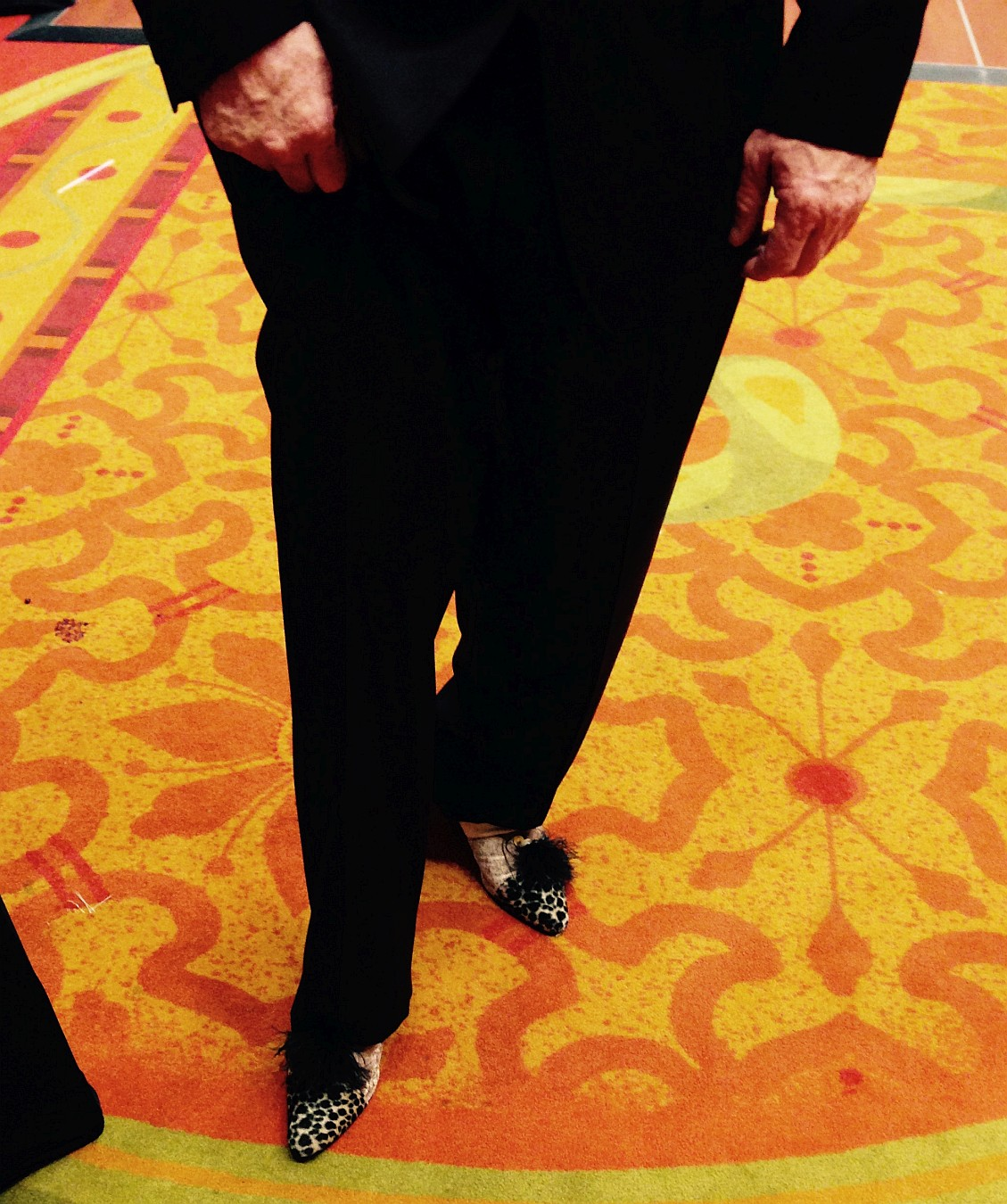 Monty Dixon showing shoes