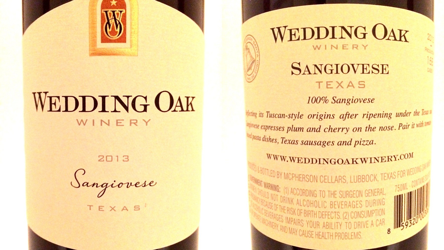 Wedding Oak Sangiovese