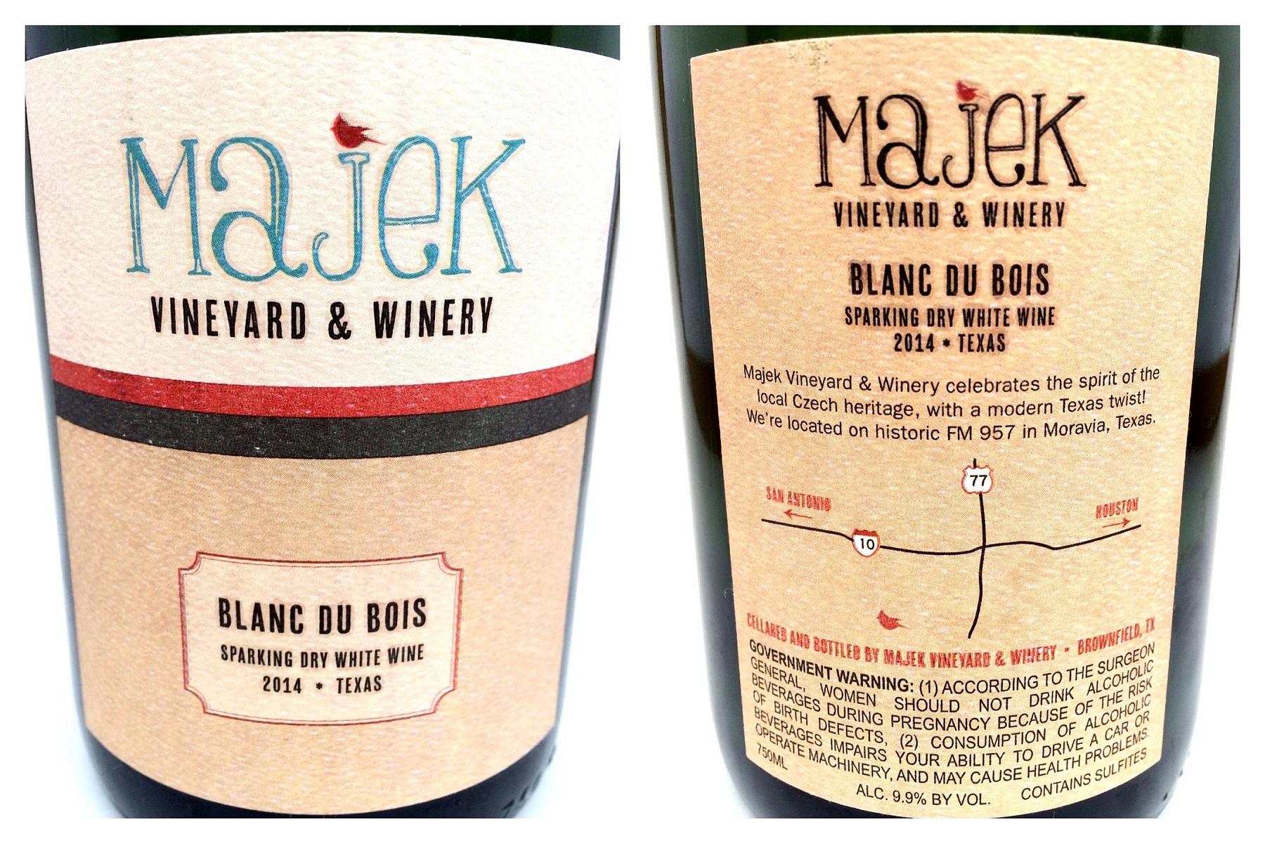 Majek Vineyard Blanc du Bois - labels