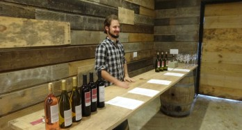 Benjamin Calais in the tasting room
