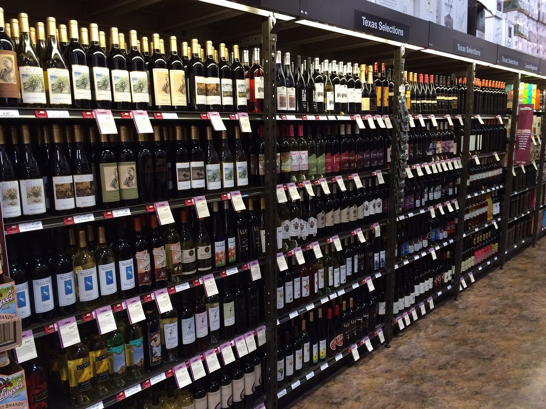 Total Wine Texas wine