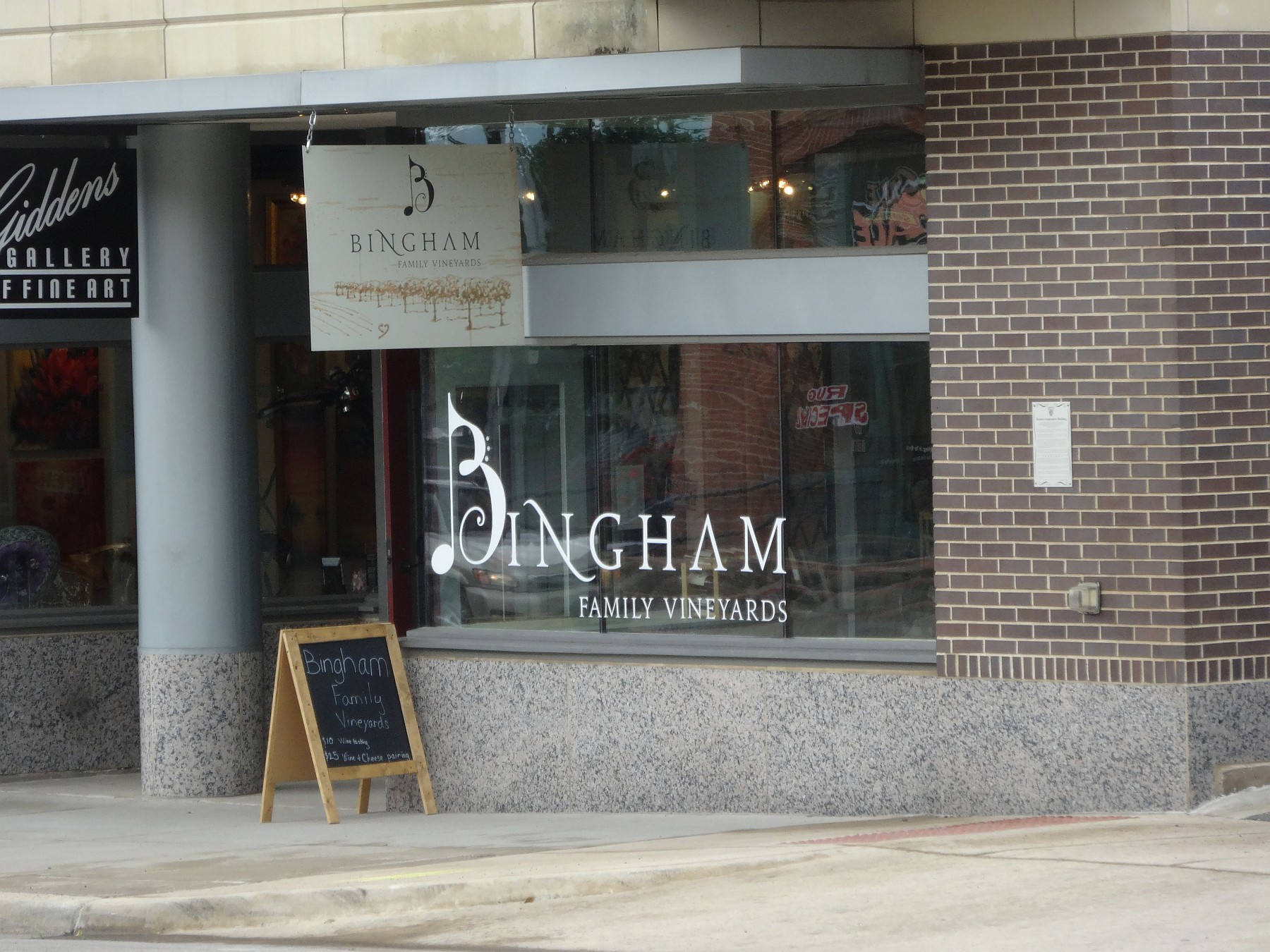 Bingham Family Vineyards outside
