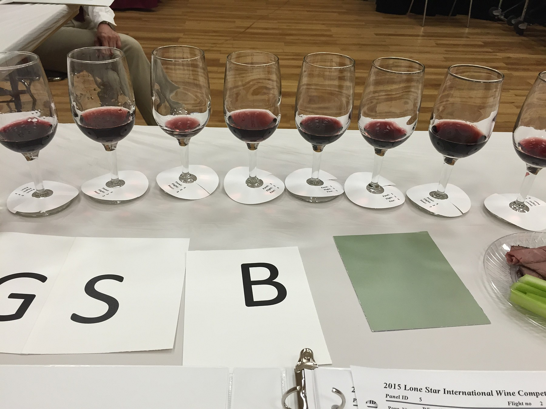 Lone Star International Wine Competition judging