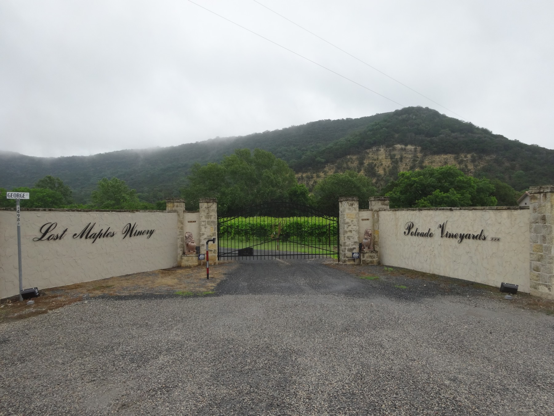 Lost Maples Winery entrance