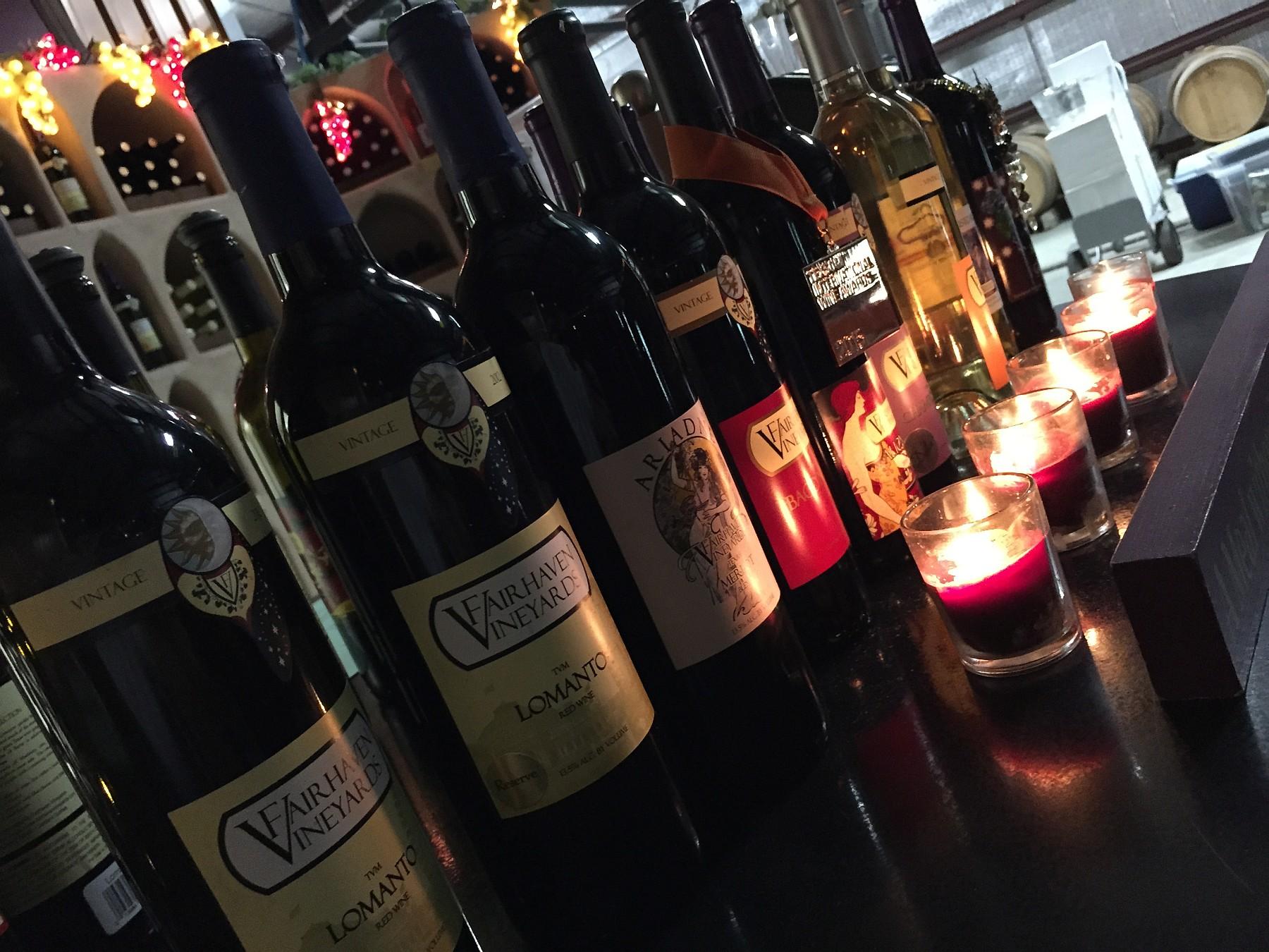 Fairhaven Vineyards wines
