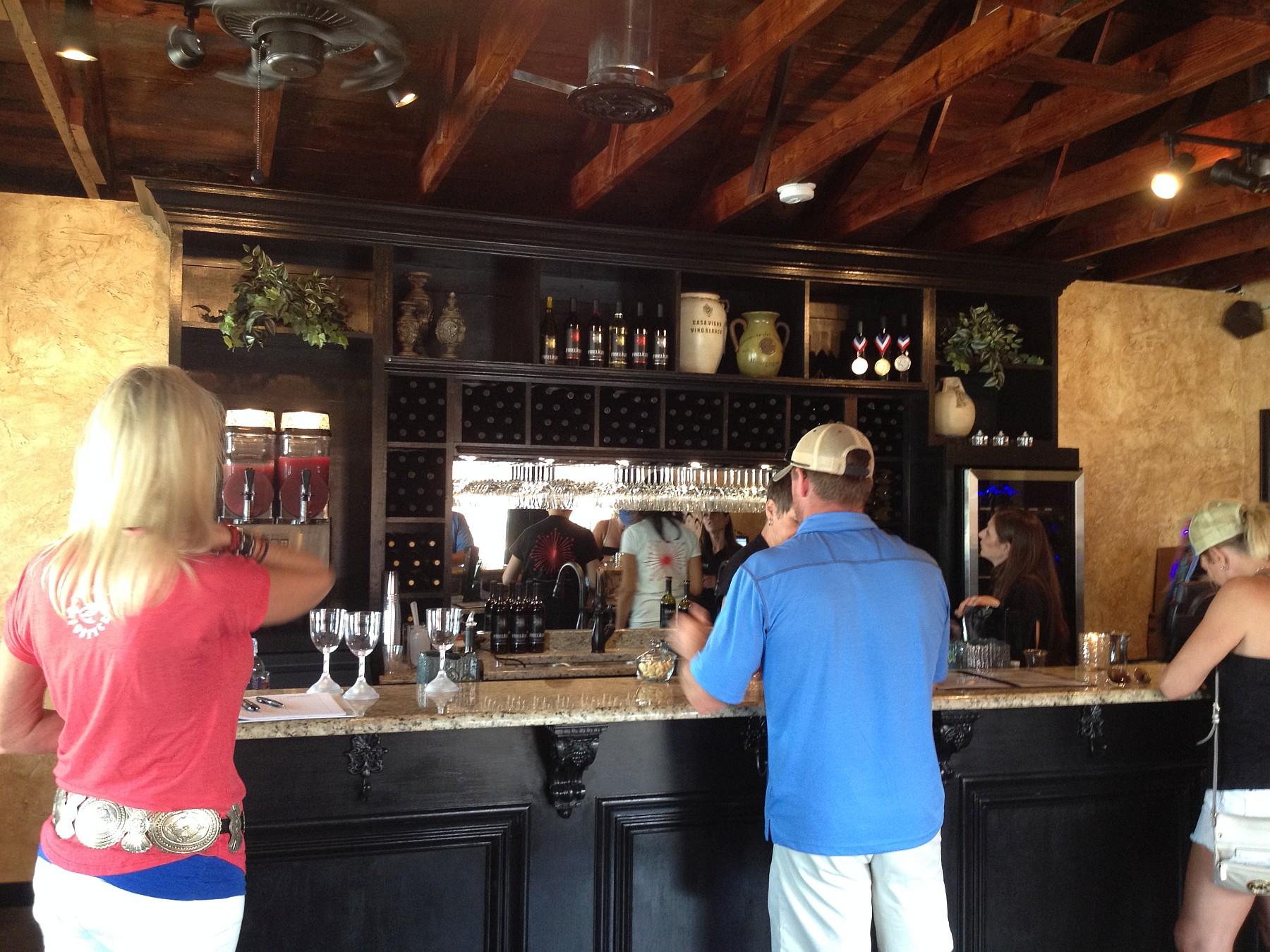 Firelight Vineyards Tasting Bar