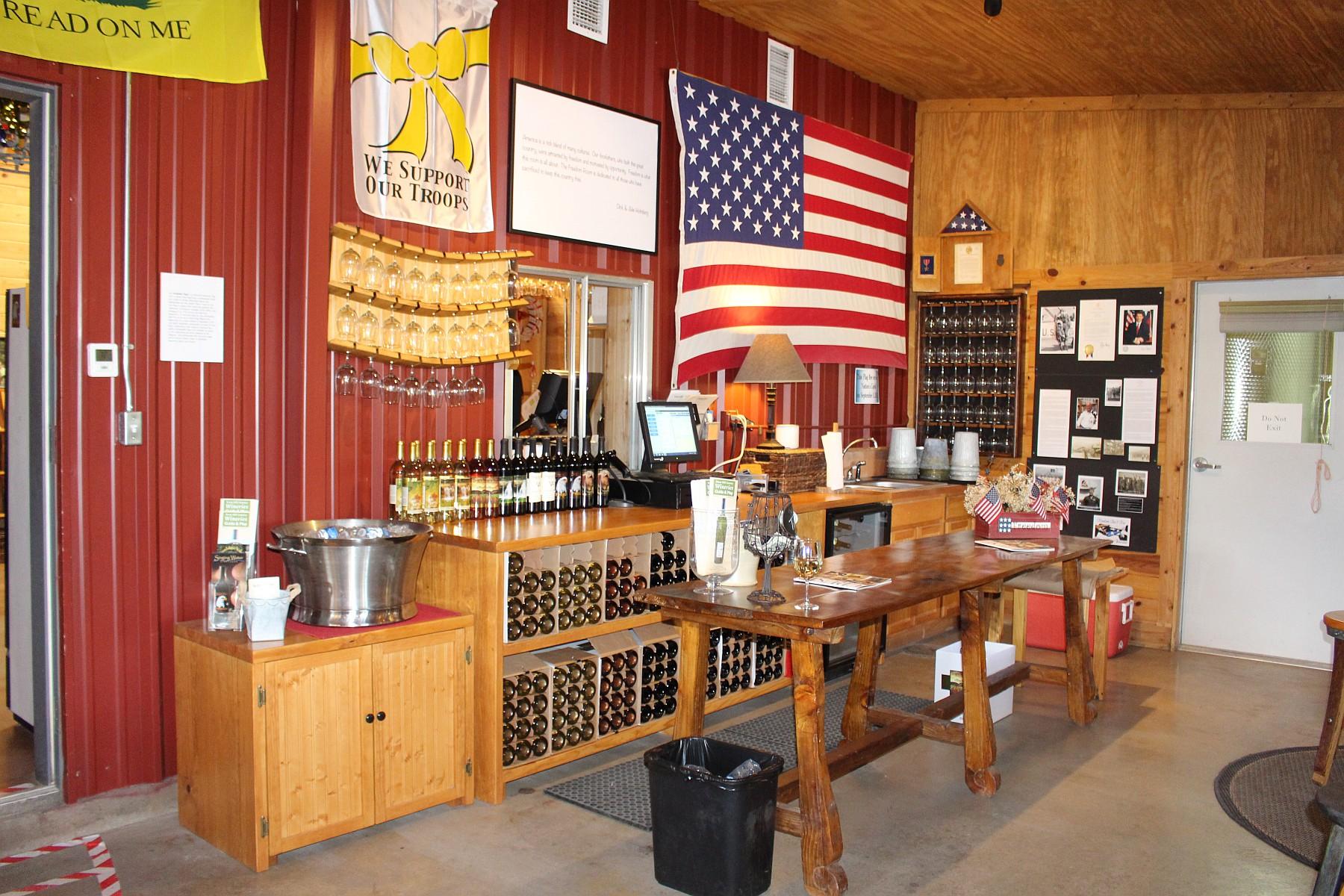 Freedom room at Singing Water Vineyards