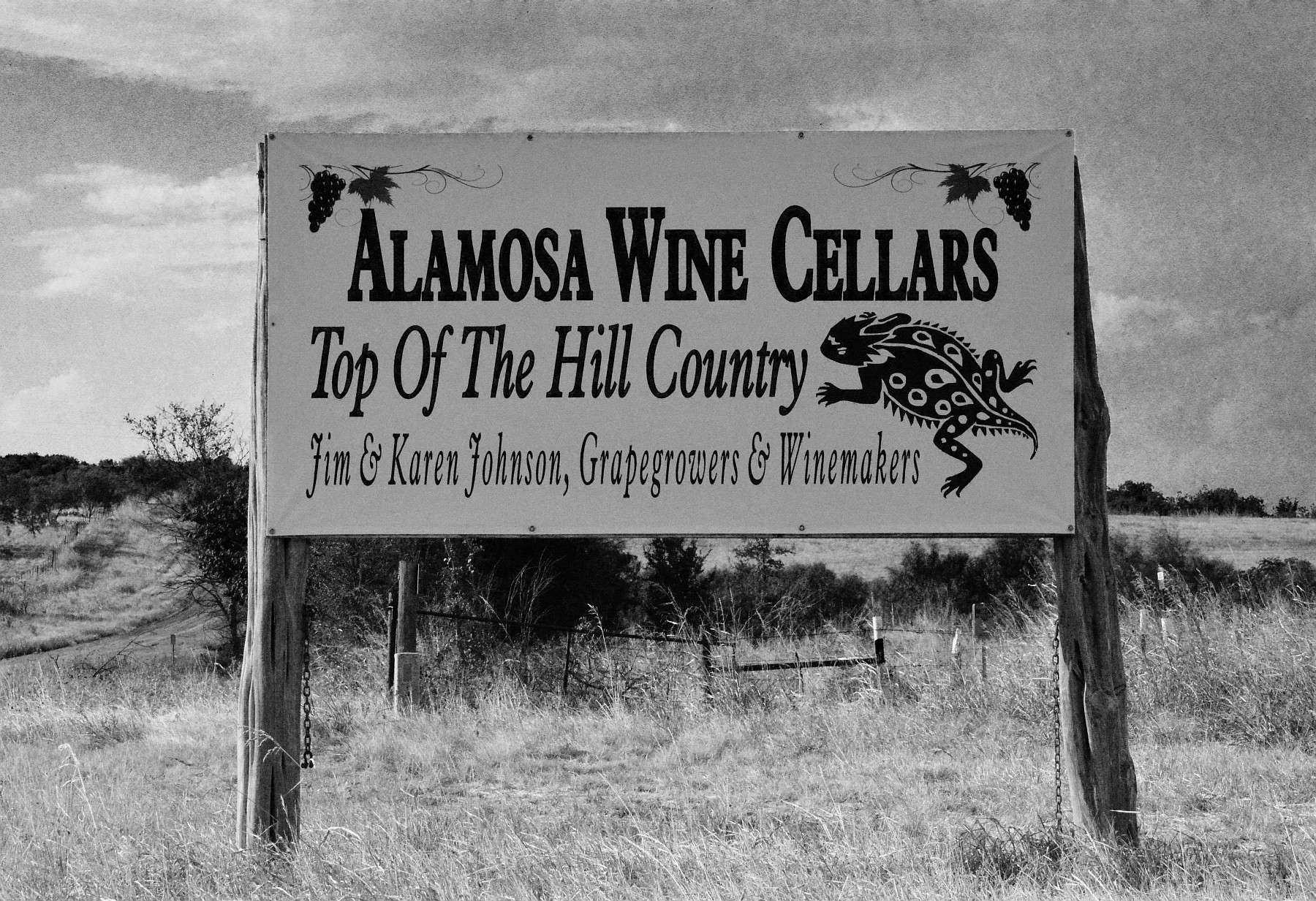 Alamosa Wine Cellars sign