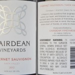 Review of Cairdean Vineyards Cabernet Sauvignon 2012