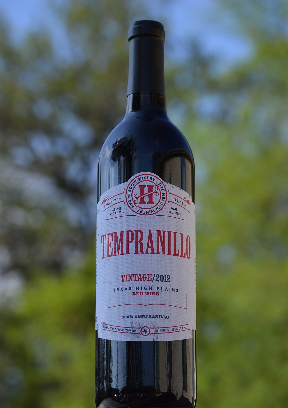 Hye Meadow Tempranillo bottle