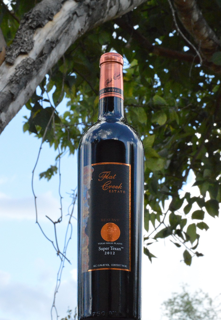 Flat Creek Estate Reserve Super Texan bottle